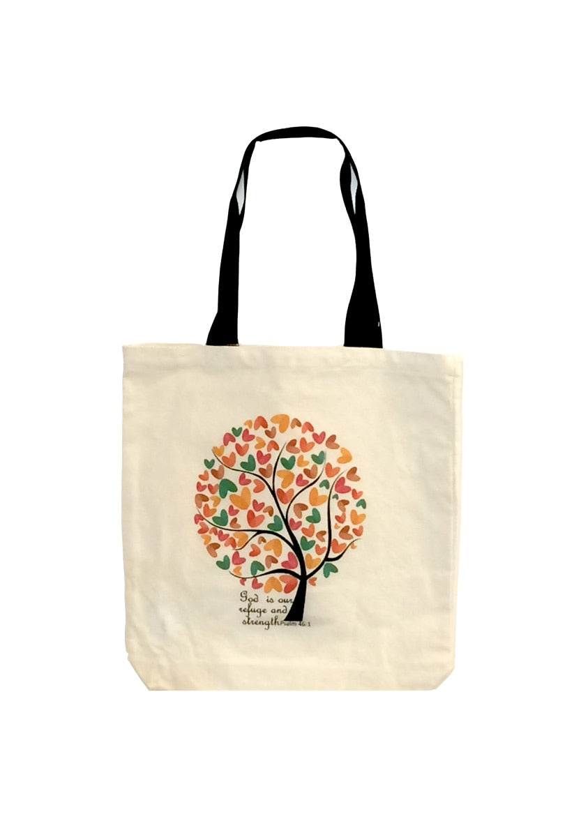 God Is Our Refuge canvas tote bag
