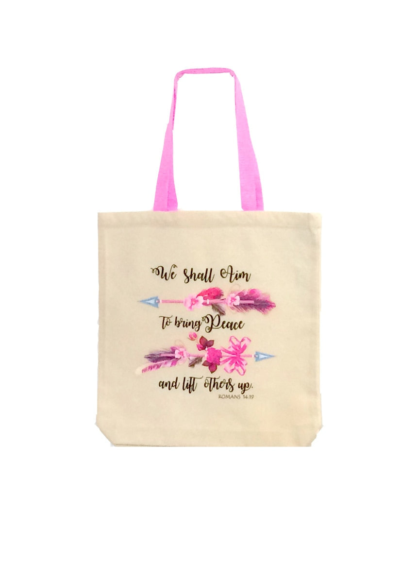 We Shall Aim Canvas Tote Bag