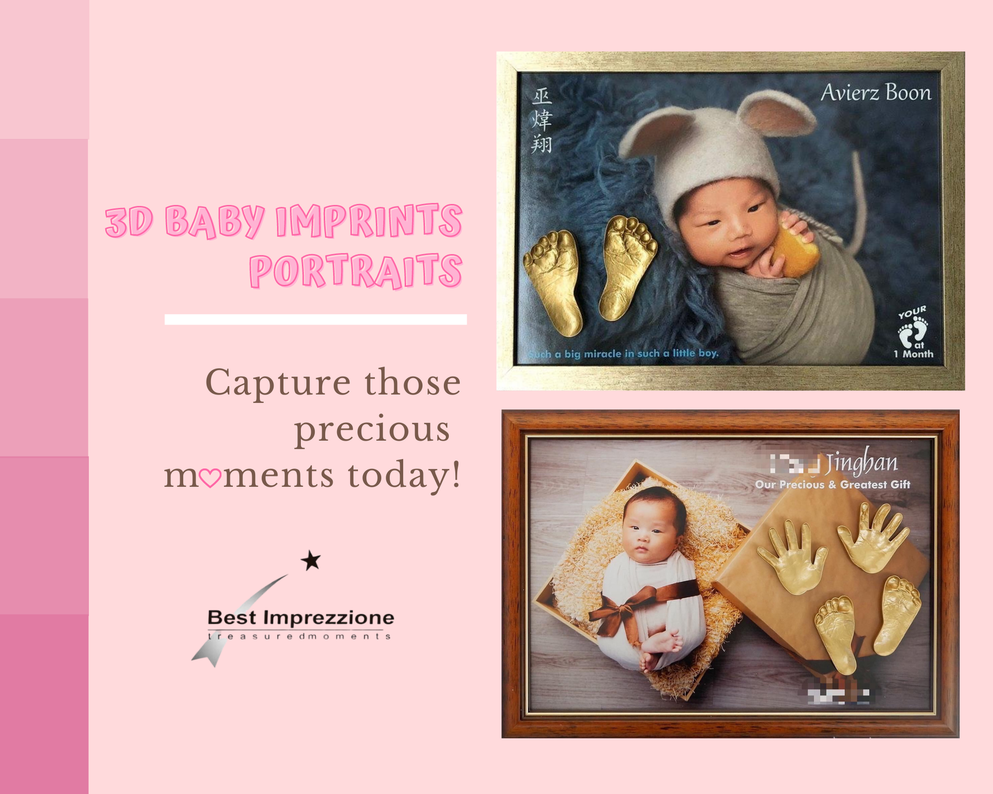 Customized 3D Baby Imprints Portraits