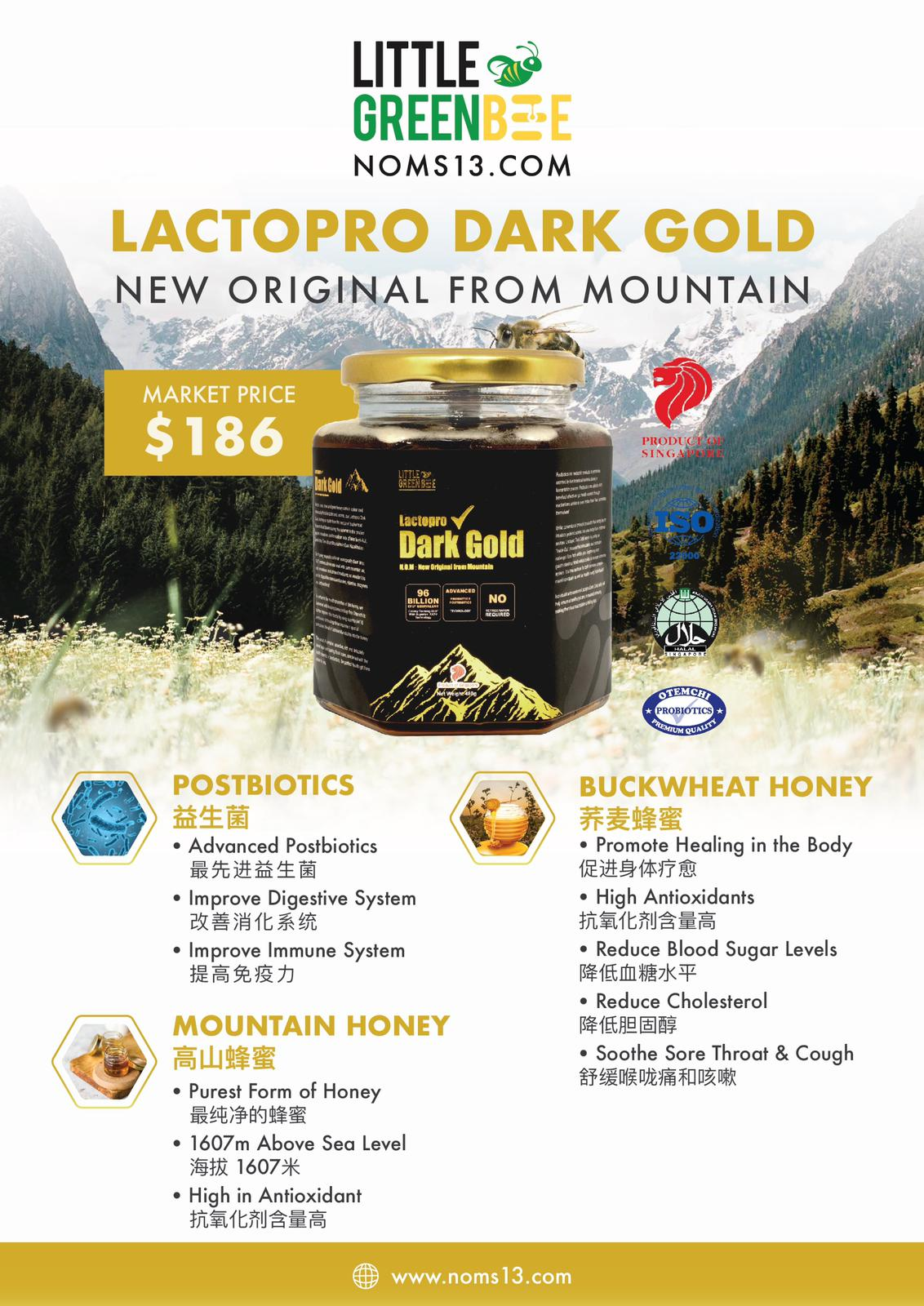 High-Grade Postbiotic Honey for you and your family!