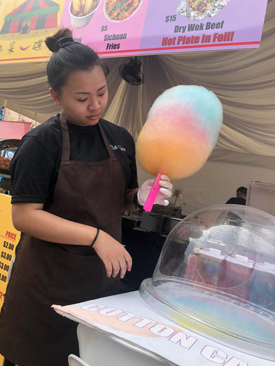 Cotton Candy Booth Rental (with staff) - 3 Hours
