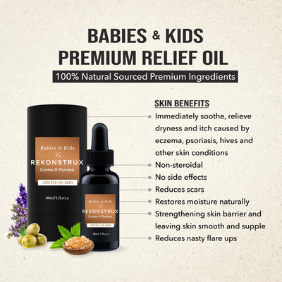 Rekonstrux Premium Relief Oil & Gel for Eczema (Free Delivery)