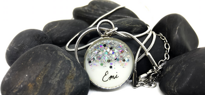 Pendant Necklace (Customisable) - Breastmilk & DNA Keepsake Jewellery