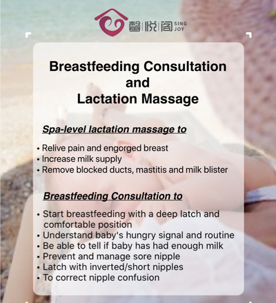 Spa-level Lactation Massage by Breastfeeding Consultant (Home Visits)