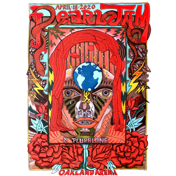 2020 PEARL JAM OAKLAND 4/18 TOUR POSTER