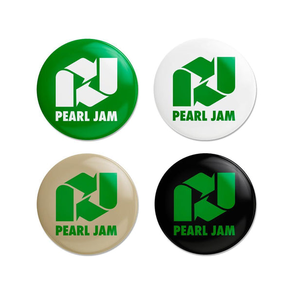 2021 PEARL JAM RECYCLED BADGE SET