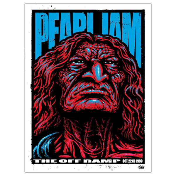 PEARL JAM OFF RAMP 10/22/1990 ART PRINT REGULAR EDITION