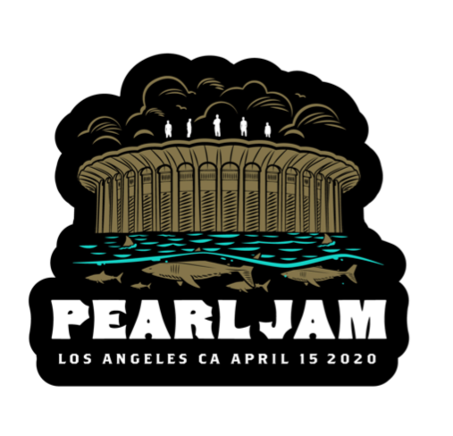 2020 PEARL JAM 4/15 LOS ANGELES STICKER