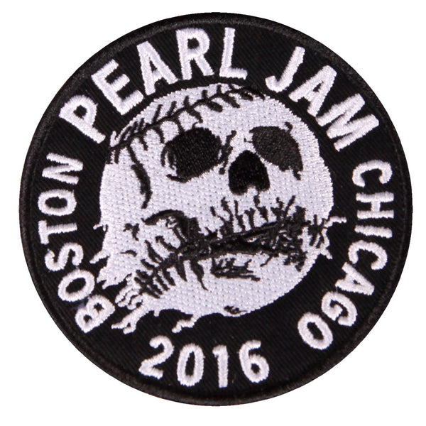 BOSTON CHICAGO SKULL BALL PATCH
