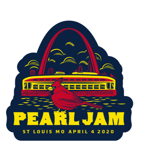 2020 PEARL JAM 4/4 ST LOUIS STICKER