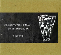 DC VAULT SHOW #3 CONSTITUTION HALL 9/19/1998 CD