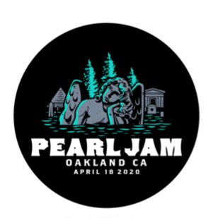2020 PEARL JAM 4/18 OAKLAND BADGE