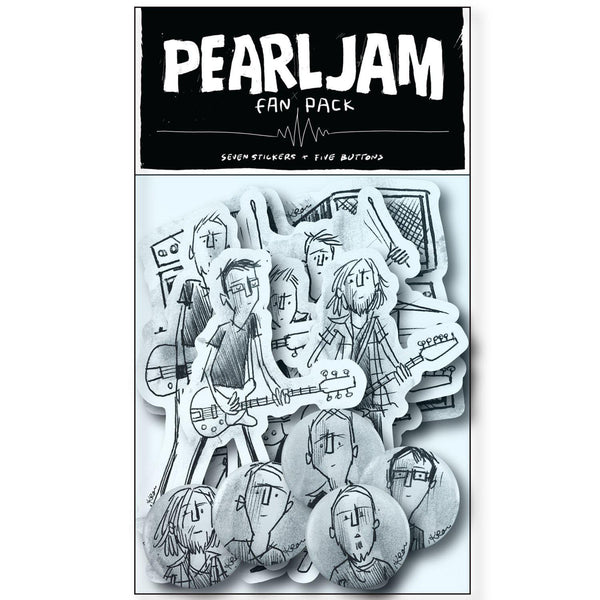 PEARL JAM TINY CONCERT STICKER AND BADGE PACK PLUS DIGITAL ALBUM