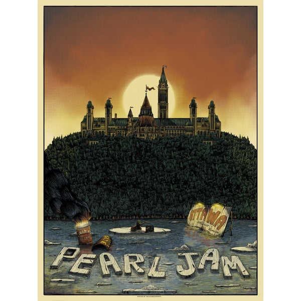 2020 PEARL JAM 3/20 OTTAWA EVENT POSTER