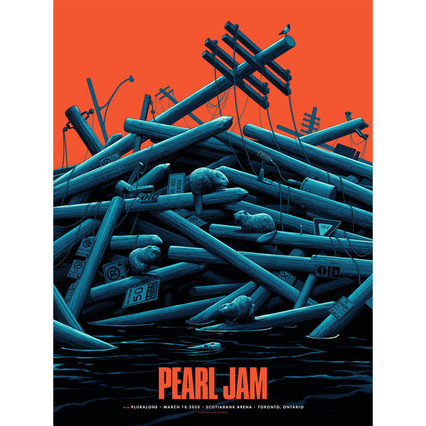 2020 PEARL JAM 3/18 TORONTO EVENT POSTER