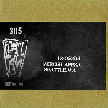 SEATTLE 12/8/1993 VAULT #9 BOOTLEG CD
