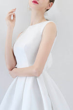 White A line short prom dress cocktail dress