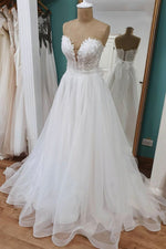White lace long ball gown dress white formal dress