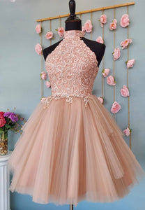 Cute lace short prom dress homecoming dress
