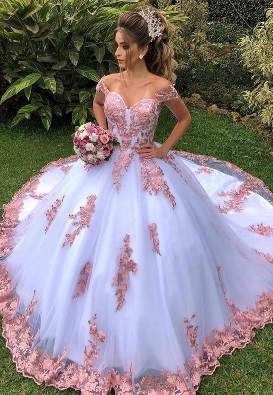 Amazing lace long ball gown dress formal gown