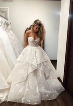 White long prom dress, lace evening dress