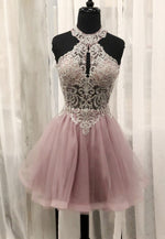 Lovely tulle lace short prom dress cocktail dress