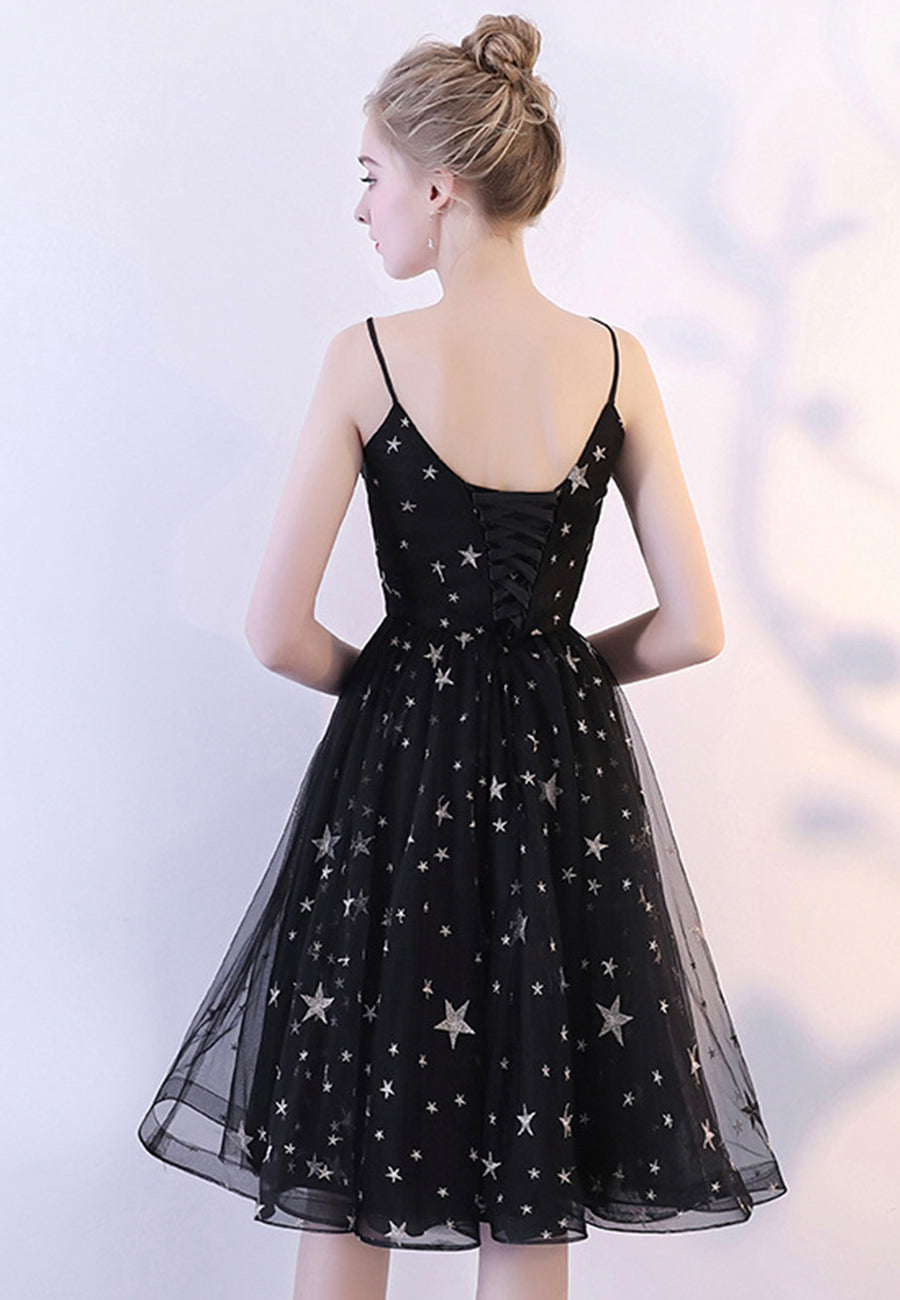 Cute black short prom dress homecoming dress