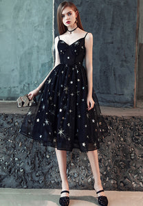 Black tulle short prom dress homecoming dress