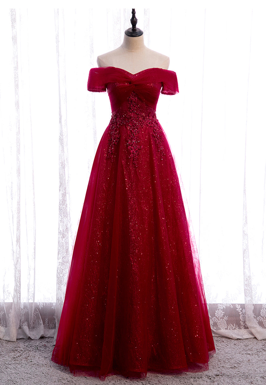 Burgundy lace long prom dress burgundy evening dress