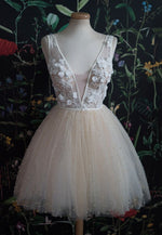 Cute v neck lace short prom dress homecoming dress