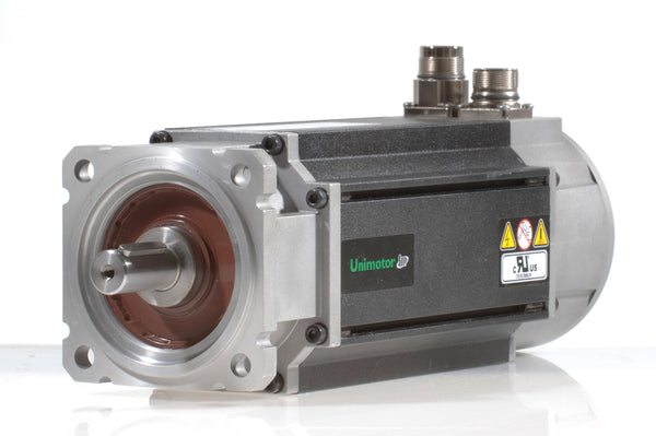 Nidec-Control Tech 095U3C305BAECA100190 Unimotor FM Servo Motor,460VAC, 95mm Frame,49.6lb-in (5.6Nm),3.9A,3krpm,EnDat multi-turn,24VDC holding brake,90° conns,Key installed,std inertia, 100mm BCD,19mm shaft dia.