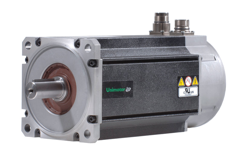 Nidec-Control Tech 115U3D300BFRAA115240 Unimotor FM Servo Motor,460VAC, 115mm Frame,99.1lb-in (11.2Nm),8.5A,3krpm,Hiperface multi-turn,no brake,90° conns,Full and 1/2 key supplied,std inertia, 115mm BCD,24mm shaft dia.