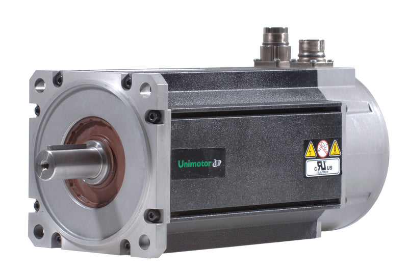 Nidec-Control Tech 142U3D305CFFCB165240 Unimotor FM Servo Motor,460VAC, 142mm Frame,141.6lb-in (16.0Nm),12.8A,3krpm,EnDat single-turn,24VDC holding brake,90° power, signal vert.,Full and 1/2 key supplied,high inertia, 165mm  BCD,24mm shaft dia.