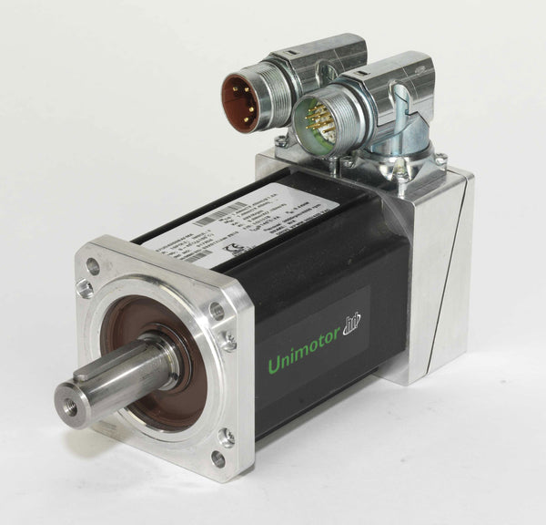 Nidec-Control Tech 067EDB305BACRA Unimotor HD Servo Motor, 230VAC, 67mm Frame, 22.57 lb-in Cont. Stall Torque, 3000RPM Max Speed, Connectorized, Incremental Encoder, Braked