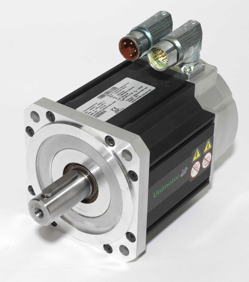 Nidec-Control Tech 115UDD205BACAA Unimotor HD Servo Motor, 460VAC, 115mm Frame, 166.4 lb-in Cont. Stall Torque, 2000RPM Max Speed, Connectorized, Incremental Encoder, Braked