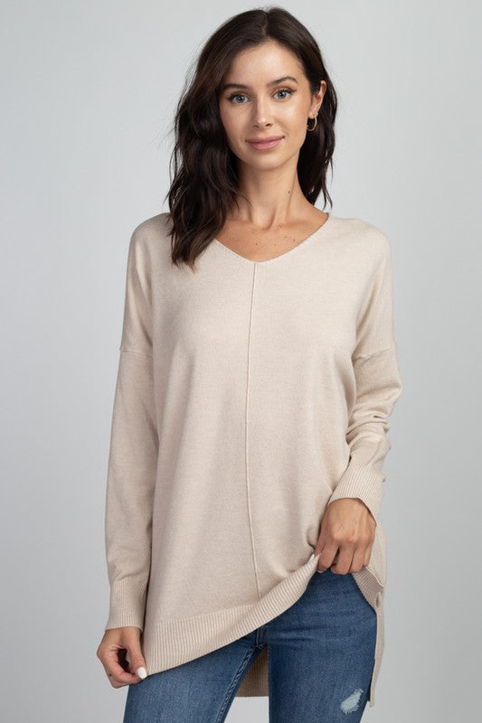 Dream V-neck Sweater - Cream