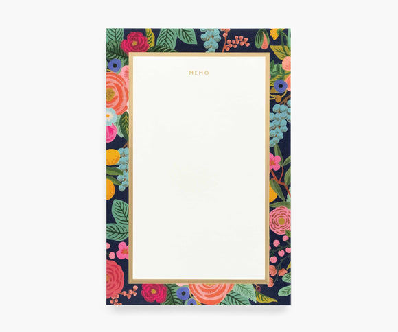 Rifle Large Memo Notepad in Garden Party