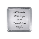 All is Calm, All is Bright Signature Cocktail Tray - Personalized w/Family Name