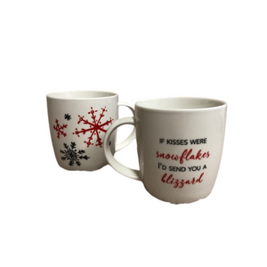 If Kisses Were Snowflakes - Set/2 Mugs