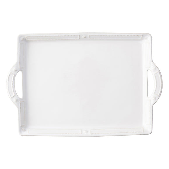 Juliska Berry & Thread French Panel Whitewash Handled Tray/Platter