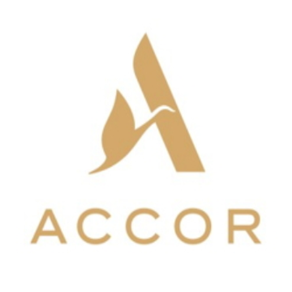 Acccor Hotel group logo of an A with a swan representing the hospitality and food and beverage clients of sipeco bamboo straws