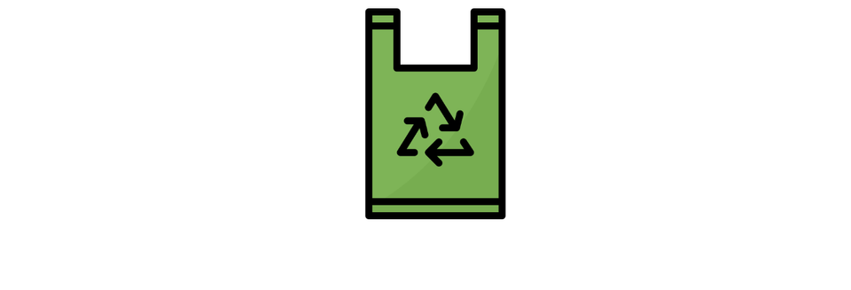 green Plastic bag with recycle sign to indicate that recycling will reduce plastic pollution and preserve marine life