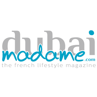 Dubai Madame logo the french expat lifestyle magazine that focuses on healthy and green living partnering with Sipeco bamboo straws