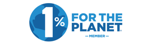 Official logo of 1% For the Planet eco-friendly organization built to preserve natural environments