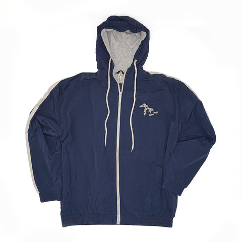 Momentum Nylon Lined Hooded Jacket - Navy