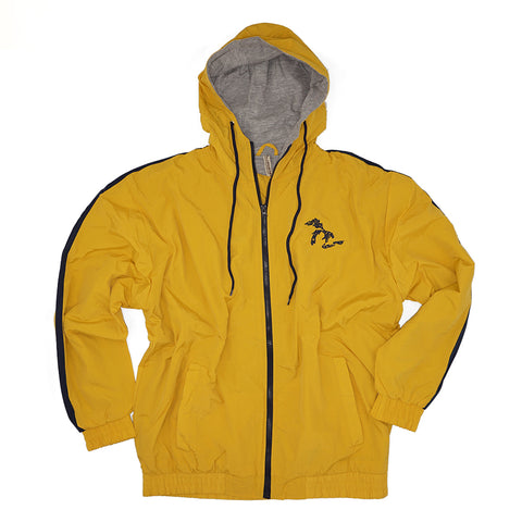 Momentum Nylon Lined Hooded Jacket - Yellow