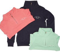 Womens 1/4 Zip- Soft Peached Cotton! - Charlevoix Oars