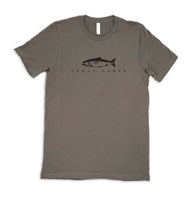 Bella Mens Tshirt- Ashphalt /Great Lakes Fish