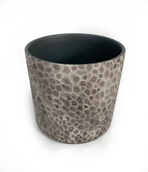 Petoskey Stone Ceramic Pot