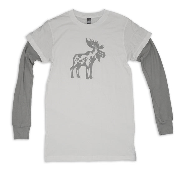 3510 Bella Longsleeve Double Tshirt- Up North Moose